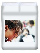 Rafael Nadal From Up Close Duvet Cover by Nishanth Gopinathan