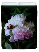 Rain-soaked Peonies Duvet Cover by Rona Black