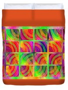 Rainbow Bliss 3 - Over The Rainbow H Duvet Cover by Andee Design