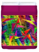 Rainbow Bliss - Pin Wheels - Painterly - Abstract - H Duvet Cover by Andee Design