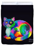 Rainbow Calico Duvet Cover by Nick Gustafson