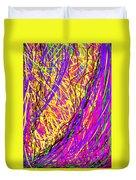 Rainbow Divine Fire Light Duvet Cover by Daina White