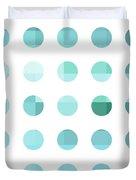 Rainbow Dots Aqua  Duvet Cover by Pixel Chimp