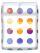 Rainbow Dots  Duvet Cover by Pixel Chimp