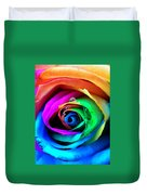 Rainbow Rose Duvet Cover by Juergen Weiss