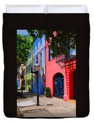 Rainbow Row Charleston Duvet Cover by Skip Willits