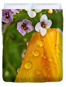Rained Upon Duvet Cover by Chris Berry
