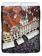 Rainy Day In Prague-2 Duvet Cover by Diane Macdonald