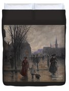 Rainy Evening On Hennepin Avenue Duvet Cover by Robert Koehler
