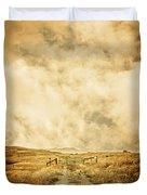 Ranch Gate Duvet Cover by Edward Fielding