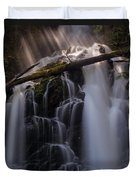 Ranger Falls Sunbeams Duvet Cover by Mike Reid