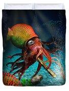 Rasta Squid Duvet Cover by Alessandro Della Pietra