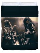 Raw Energy Of Led Zeppelin Duvet Cover by Daniel Hagerman