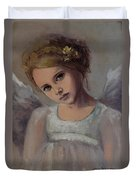 Reading Into Your Soul  Duvet Cover by Dorina  Costras