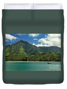 Ready To Sail In Hanalei Bay Duvet Cover by James Eddy