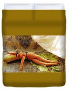 Reclining Nude Carrot Duvet Cover by Sarah Loft
