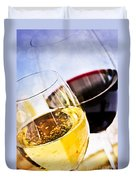 Red And White Wine Duvet Cover by Elena Elisseeva