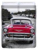 Red Belair At The Beach Standard 11x14 Duvet Cover by Edward Fielding
