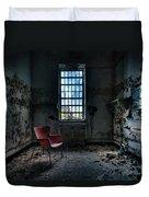 Red Chair - Art Deco Decay - Gary Heller Duvet Cover by Gary Heller