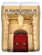 Red Door Duvet Cover by Maria Coulson