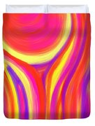 Red Fire Duvet Cover by Daina White