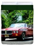 Red Firebird Convertible Duvet Cover by Susan Savad