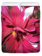 Red Flower In Bloom Duvet Cover by HEVi FineArt