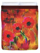 Red Flowers Duvet Cover by Nedunseralathan R