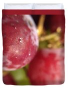 Red Grapes Duvet Cover by Marian Palucci