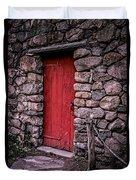 Red Grist Mill Door Duvet Cover by Edward Fielding