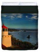 Red Head Light Duvet Cover by Adam Jewell