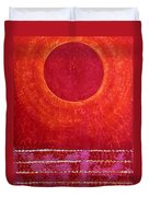 Red Kachina Original Painting Duvet Cover by Sol Luckman