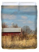 Red Kentucky Relic Duvet Cover by Paulette B Wright