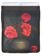 Red Poppies Duvet Cover by Kay Novy