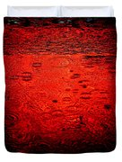 Red Rain Duvet Cover by Dave Bowman
