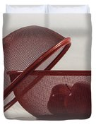 Red Red Apples Duvet Cover by Judy Hall-Folde