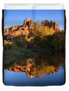 Red Rock Reflections Duvet Cover by Mike  Dawson