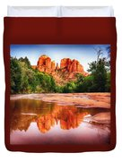 Red Rock State Park - Cathedral Rock Duvet Cover by Bob and Nadine Johnston