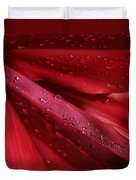 Red Ti The Queen Of Tropical Foliage Duvet Cover by Sharon Mau