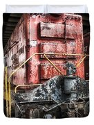 Red Train Duvet Cover by Todd and candice Dailey