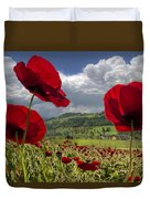 Red White And Blue Duvet Cover by Debra and Dave Vanderlaan