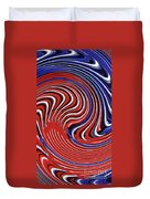 Red White And Blue Duvet Cover by Sarah Loft
