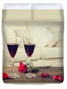 Red Wine Duvet Cover by Amanda And Christopher Elwell