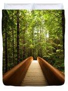Redwood Bridge Duvet Cover by Chad Dutson