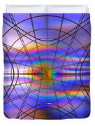 Reentry At Dusk Duvet Cover by Andreas Thust