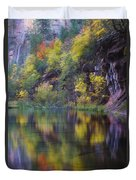 Reflected Fall Duvet Cover by Peter Coskun