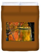 Reflection  Of My Thoughts  Autumn  Reflections Duvet Cover by Peggy  Franz