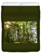 Reflection Of Woods Duvet Cover by Sonali Gangane