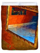 Reflections In The Mirror Duvet Cover by Jonathan Steward