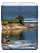 Relaxed Fisherman Duvet Cover by Robert Bales